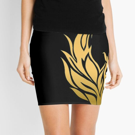 Golden Phoenix Rising Mini Skirt