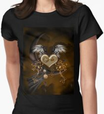 Wonderfu steampunk heart Women's Fitted T-Shirt