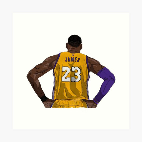 LA LeBron James Art Print