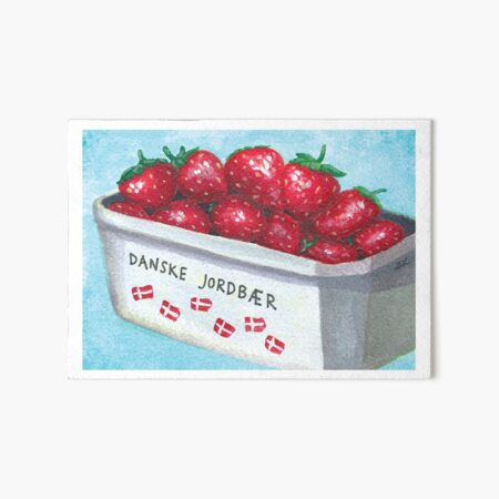 Danish Strawberries | Dansk Jordbær Art Board Print