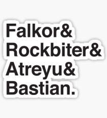 Falkor & Rockbiter & Atreyu & Bastian Sticker