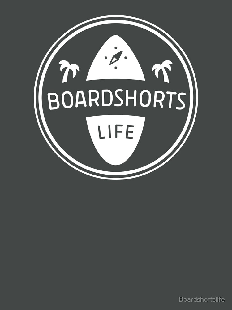 Boardshortslife minimalistisches Logo in weiß by Boardshortslife