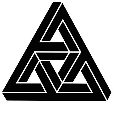 Complex Triangle Impossible Geometry Modern Monochrome Minimalism by Modernicity