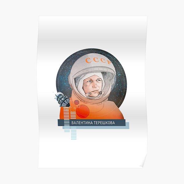 Valentina Tereshkova, cosmonauta Poster