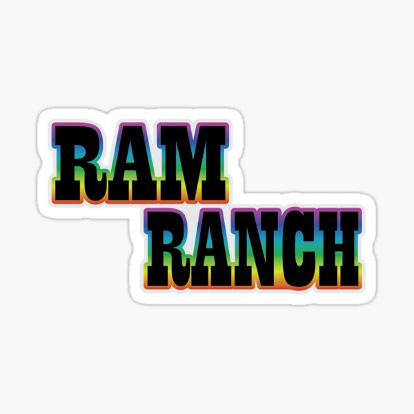 RAM RANCH Sticker