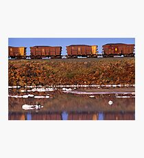 Ore Cars  Photographic Print