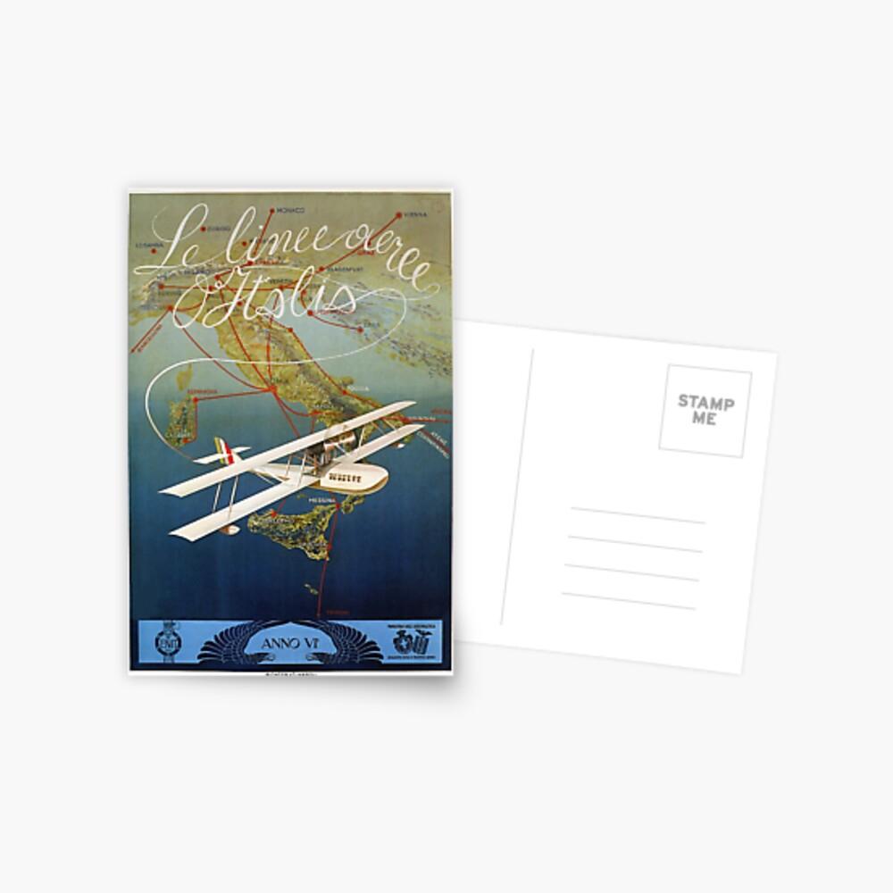 Italienische Reise des Inselflugzeugs der Weinlese 1920 s Postkarte