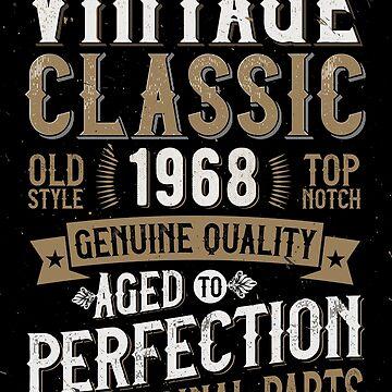 50 years Birthday T-Shirt 1968 Funny Aged Distressed by kolbasound