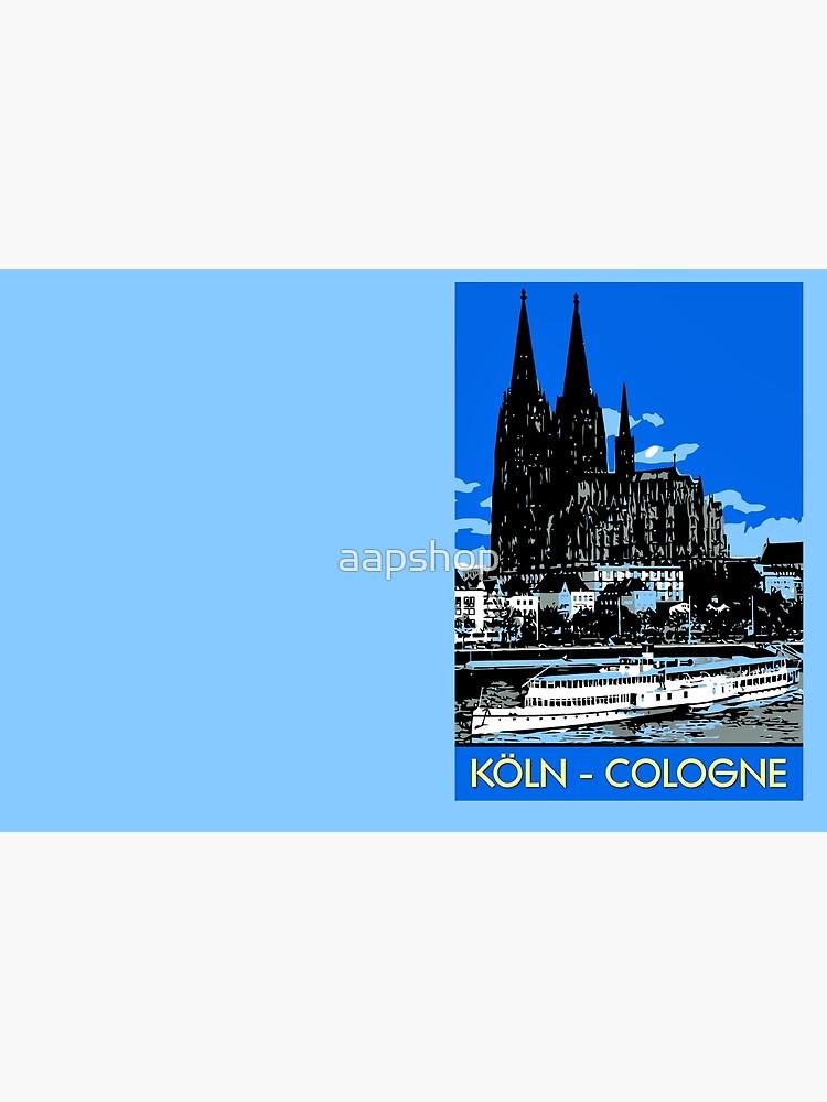 Koeln Köln Retro-Vintage-Stil Reiseanzeige von aapshop