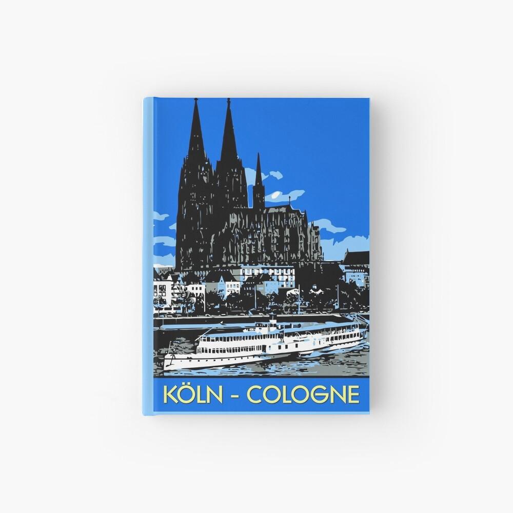 Koeln Köln Retro-Vintage-Stil Reiseanzeige Notizbuch