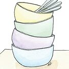 Stacked Dishes by Gina Lorubbio