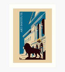 Kunstinstitut Chicago retro Kunstdruck