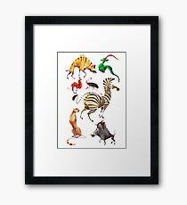 African animals  Framed Print