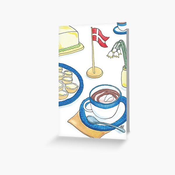 Birthday Buns & Hot Chocolate | Fødselsdagsboller & Varm Kakao Greeting Card