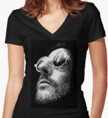 Jean Reno - Leon Women's Fitted V-Neck T-Shirt