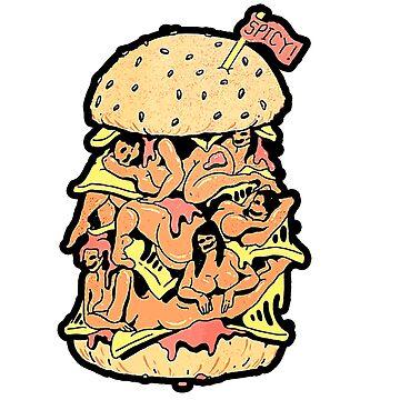 Getter Trippy Babe Burger by TheDarkKRONOS