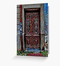 The Old Wooden Door Fine Art Print Greeting Card