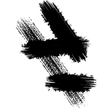 Paint Brush Strokes Abstract Minimalist Monochrome by Modernicity