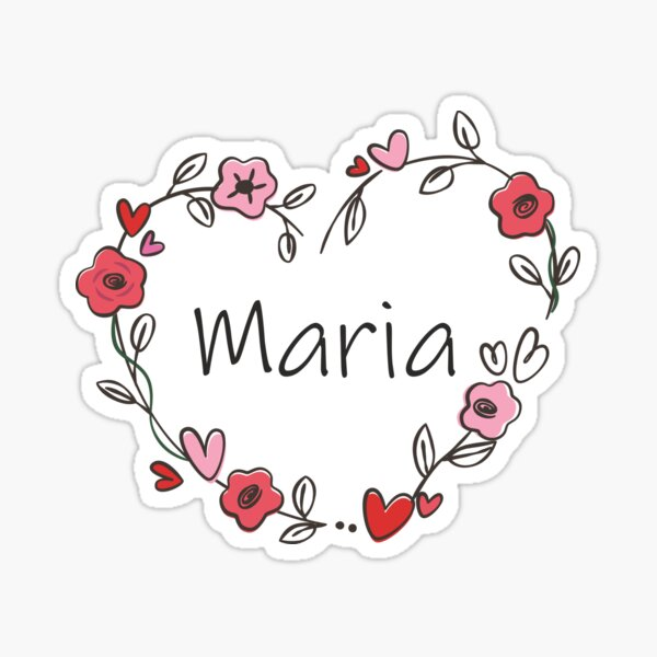 Mi nombre es Maria Pegatina