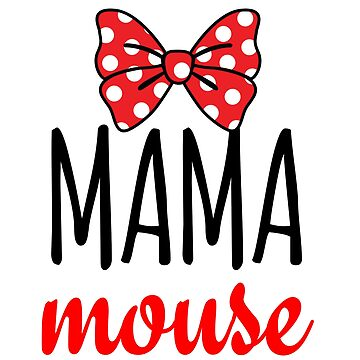 Mama Mouse Polka Dot Bow by CarbonClothing
