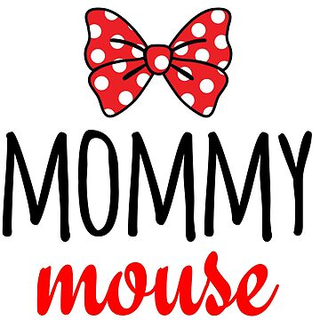 Mommy Mouse Polka Dot Bow by CarbonClothing