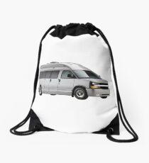 American van arranged, recreational vehicle, travel vehicle, vehicle of life Drawstring Bag