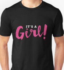 It's A Girl Reveal Announcement Unisex T-Shirt