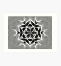 Gray Kaleidoscope Art 24 Art Print