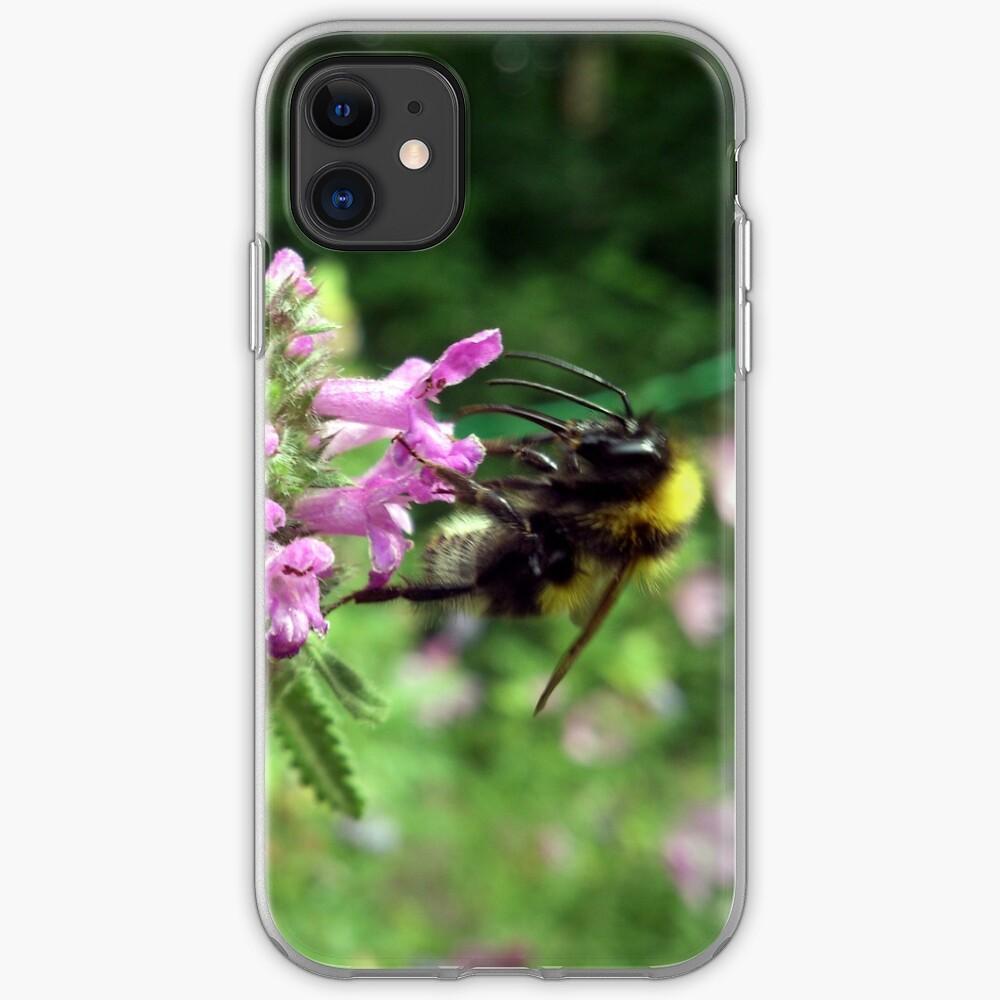 Blüte mit Biene iPhone-Hülle & Cover