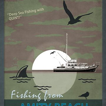 One Way Trips Presents 'Fishing From Amity Beach' by john76