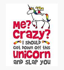 Funny Unicorn Photographic Print
