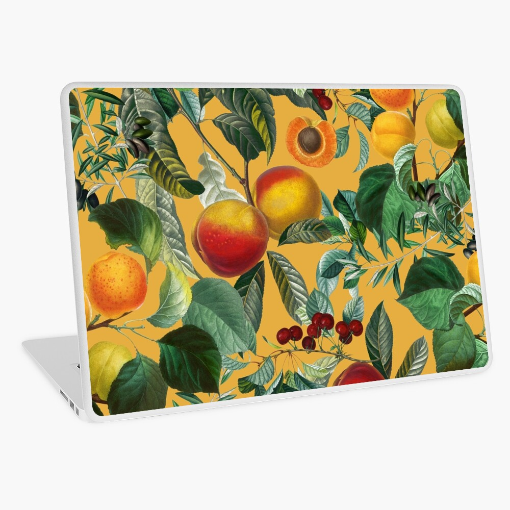 Floral and Fruit pattern II Laptop Skin