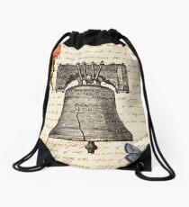 Vintage Bell Drawstring Bag