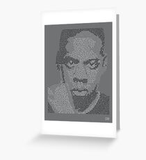 Jay-Z Lyric Portrait Greeting Card