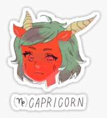 capricorn, the sea goat [zodiac series] Sticker