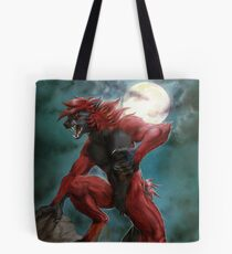 Red werewolf Tote Bag