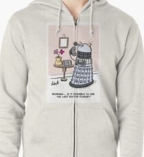 Female Doctor Who Cartoon Zipped Hoodie