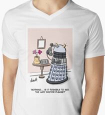 Female Doctor Who Cartoon Men's V-Neck T-Shirt