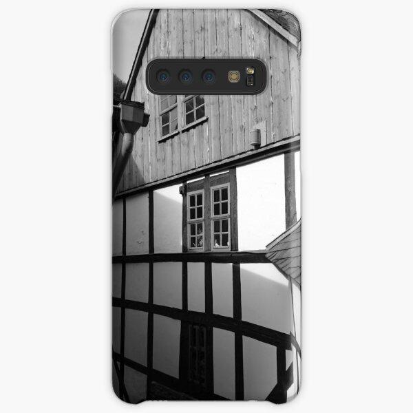 Fachwerkhaus in Stolberg / Harz in schwarz-weiß Samsung Galaxy Leichte Hülle