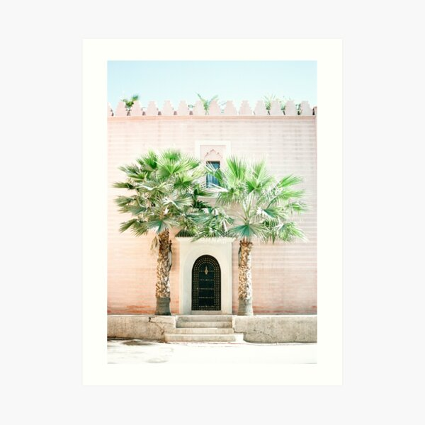 """Travel photography print """"Magical Marrakech"""" photo art made in Morocco. Pastel colored. Art Print Art Print"""