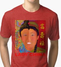 'Lady China' Tri-blend T-Shirt