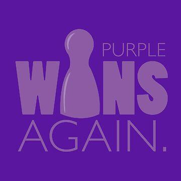Purple Wins Again by RhoaDesigns