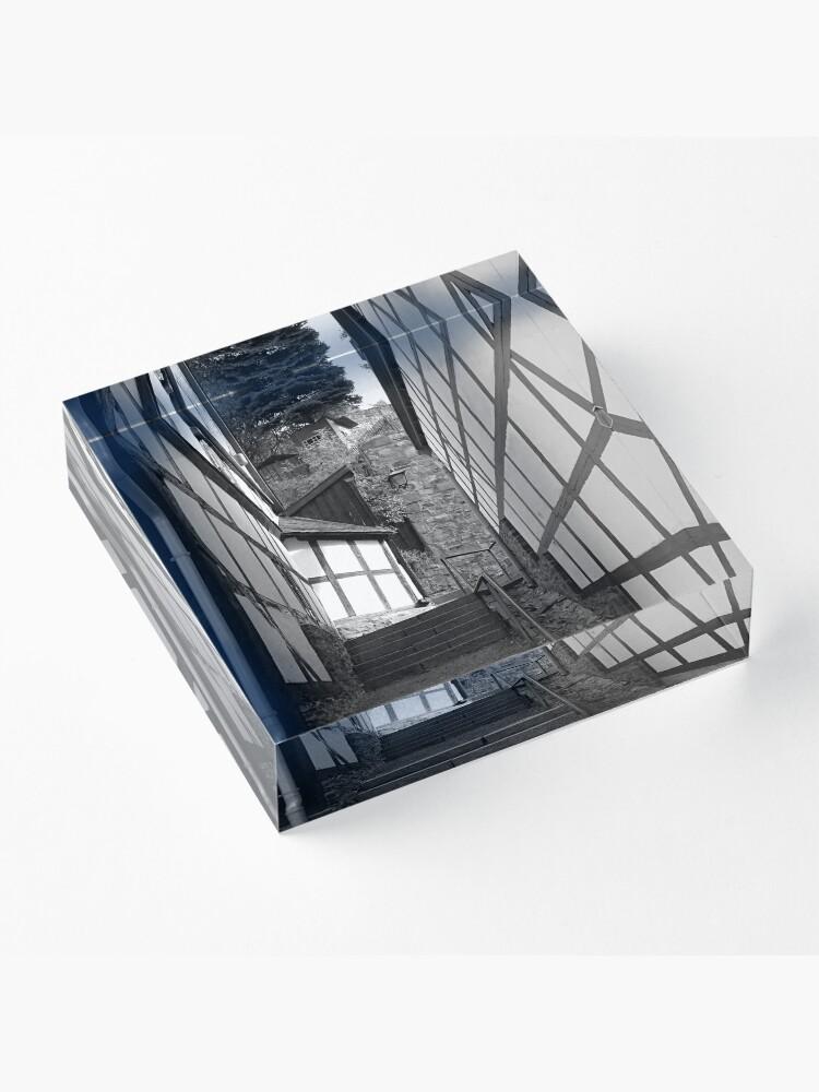 Alternative Ansicht von Gasse in Stolberg / Harz mit Treppe in schwarz-weiß Acrylblock