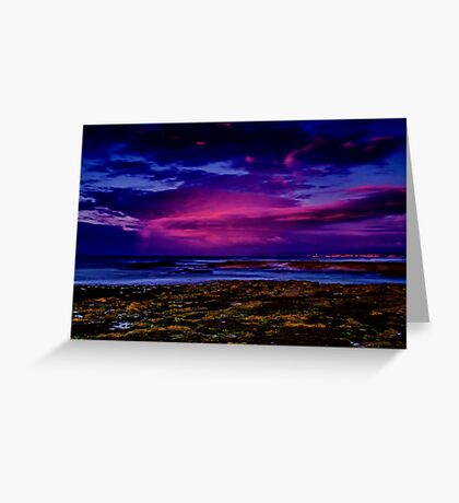 """Twilight Rainstorm"" Greeting Card"