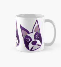 Boston Terrier Various Colorings Purple Angled Heads Mug