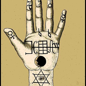 OCCULT PALMISTRY : Vintage Fortune Telling Advertising Print by posterbobs