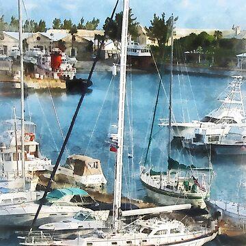 Bermuda - Boats at King's Wharf by SudaP0408