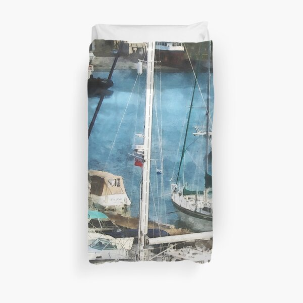 Bermuda - Boats at King's Wharf Duvet Cover
