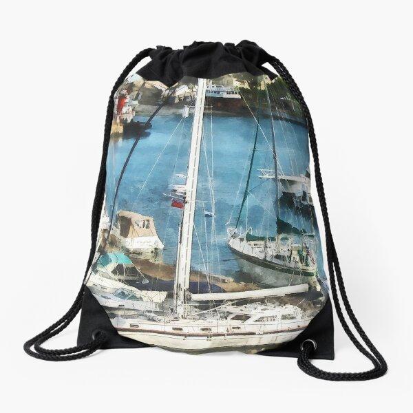 Bermuda - Boats at King's Wharf Drawstring Bag