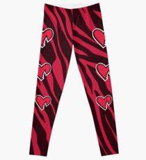 HBK Zebra Heart Leggings